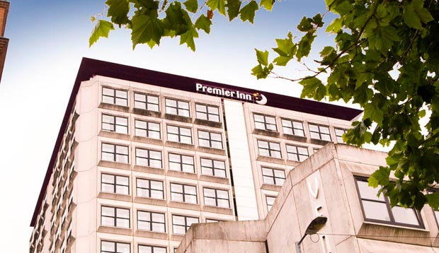 Exterior of Premier Inn Glasgow City Centre (Charing Cross)