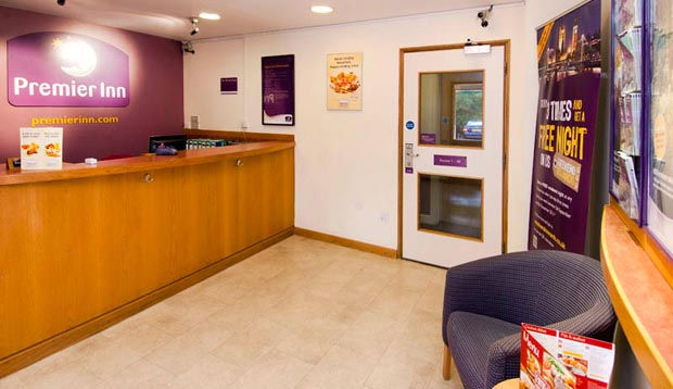 Reception area at Premier Inn London Greenford