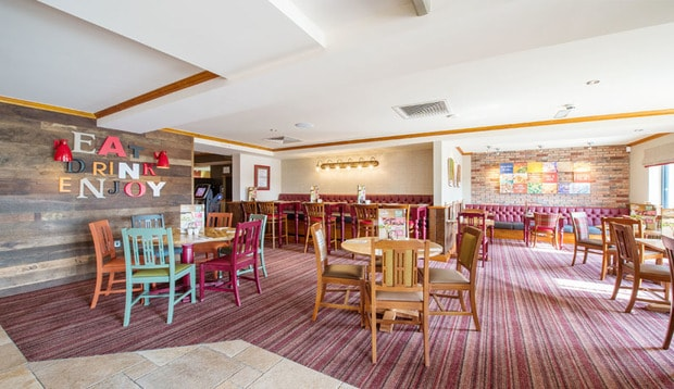 Restaurant area at Premier Inn Great Yarmouth