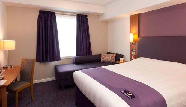 Family room at Premier Inn London Heathrow Airport Terminal 5
