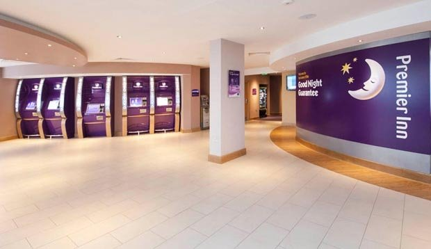 Reception at Premier Inn London Heathrow Airport Terminal 5