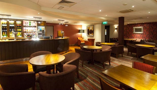 Bar area at Premier Inn London Heathrow Airport (Bath Road)
