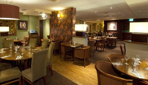 Restaurant area at Premier Inn London Heathrow Airport (Bath Road)