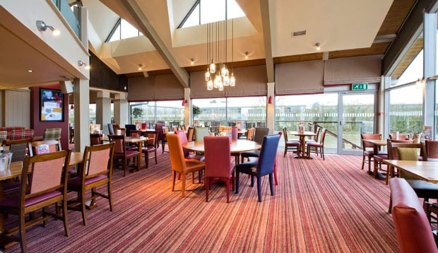 Restaurant area at Premier Inn Hinckley