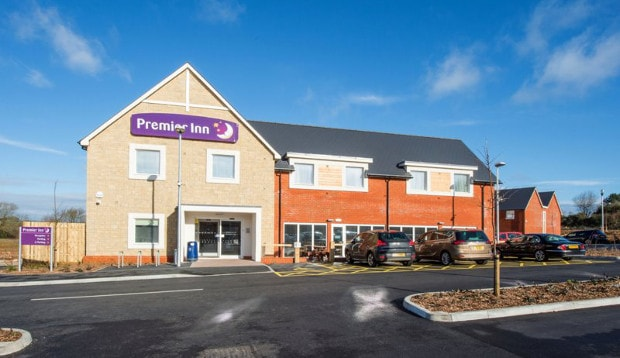 Exterior of Premier Inn Isle of Wight Sandown (Merrie Gardens)