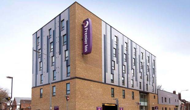 Exterior of Premier Inn Ipswich Town Centre (Quayside)