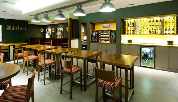 Bar area at Premier Inn Leamington Spa Town Centre