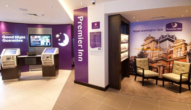 Reception area at Premier Inn Leamington Spa Town Centre