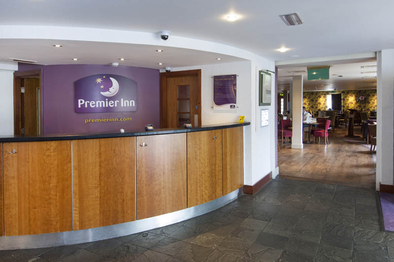 Reception at Premier Inn Leeds City West