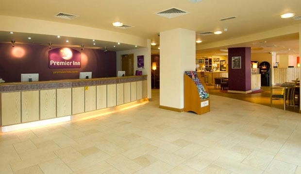 Reception at Premier Inn Leicester City Centre