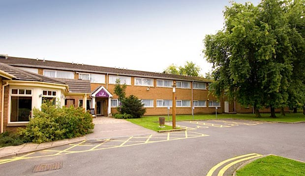 Exterior of Premier Inn Leicester (Forest East) hotel
