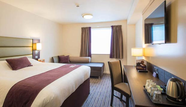 Family room at Premier Inn Lichfield City Centre hotel