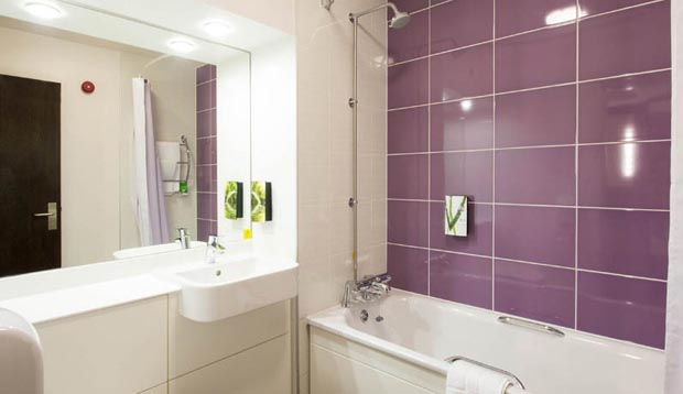 Bathroom at Premier Inn Lichfield City Centre hotel