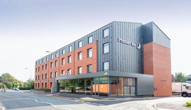 Exterior at Premier Inn Lichfield City Centre hotel