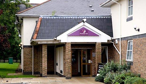 Exterior of Premier Inn Lincoln (Canwick) hotel
