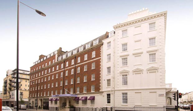 Exterior at Premier Inn London Victoria hotel showing surrounding area
