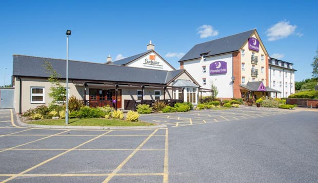 Car park at Premier Inn Llanelli Central East