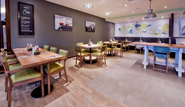 Restaurant at Premier Inn Brixton hotel