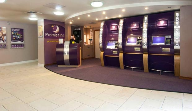 Reception at Premier Inn London Euston hotel