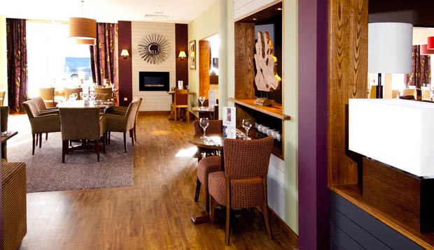Restaurant area at Premier Inn London Greenwich