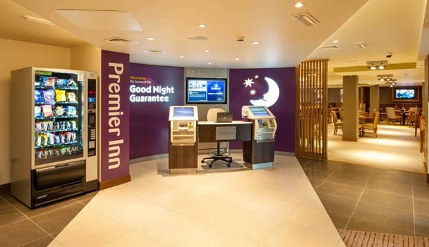Reception at Premier Inn London Hendon (The Hyde) hotel