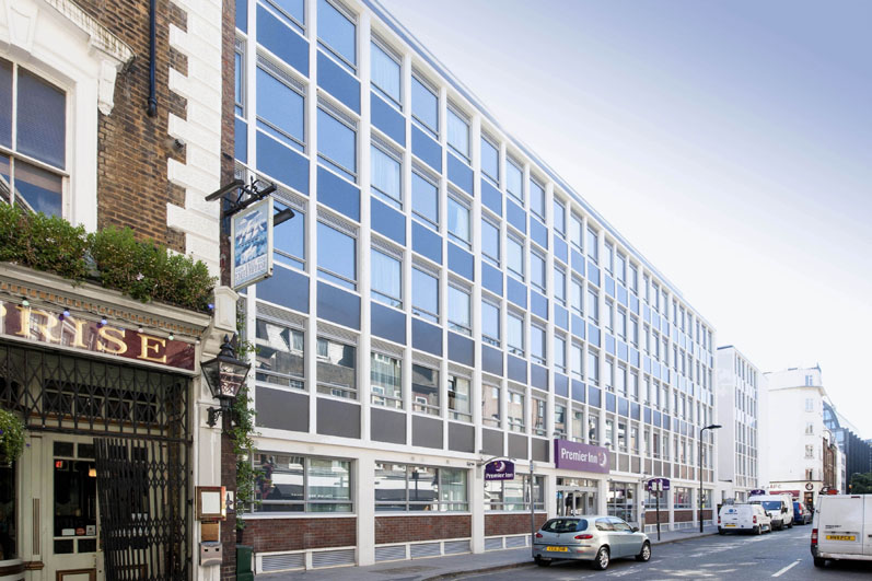 Exterior at Premier Inn London Holborn hotel