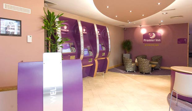 Reception area at Premier Inn London Kensington (Earls Court)