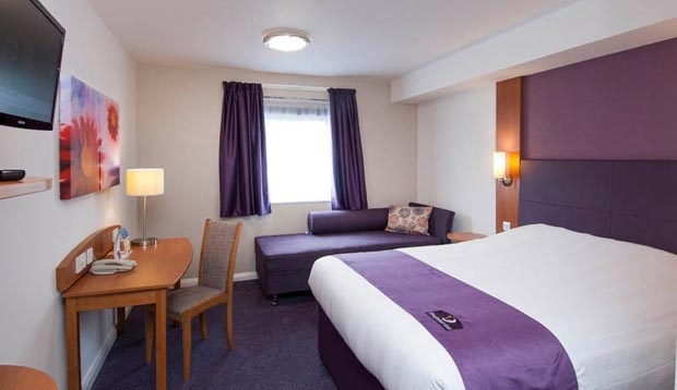 Double room at Premier Inn London Richmond