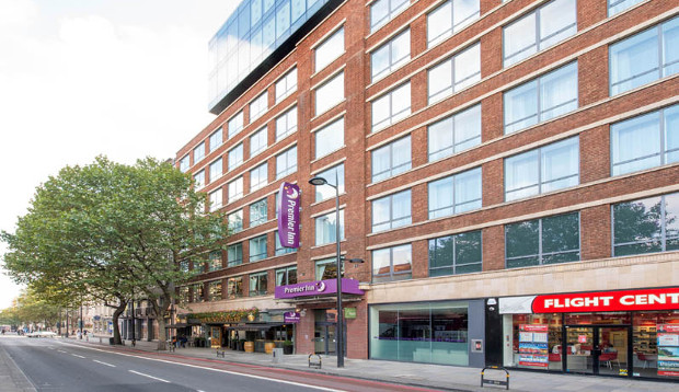 Exterior and street view at Premier Inn London St Pancras hotel