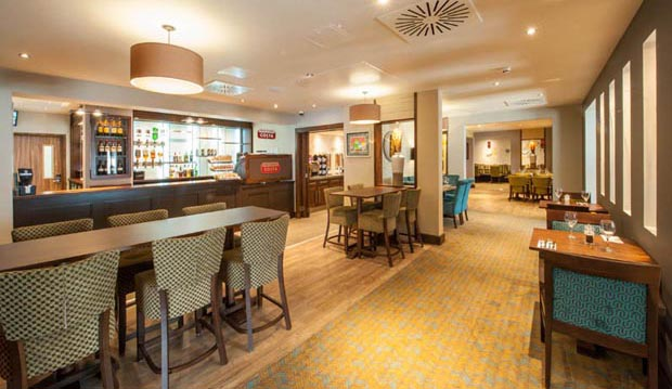 Bar area at Premier Inn London Wandsworth hotel