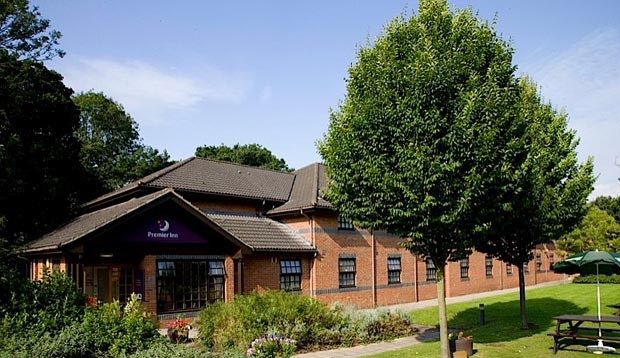 Exterior of Premier Inn Lowestoft hotel showing surrounding area