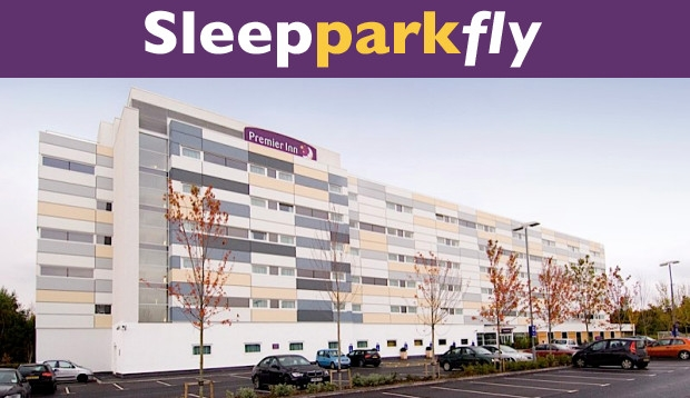 Exterior of Premier Inn Manchester Airport (M56/J6) Runger Lane South hotel with Sleep Park Fly