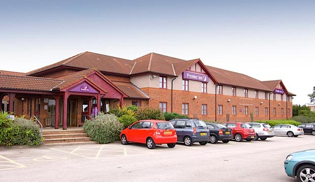Car park at Premier Inn Mansfield hotel