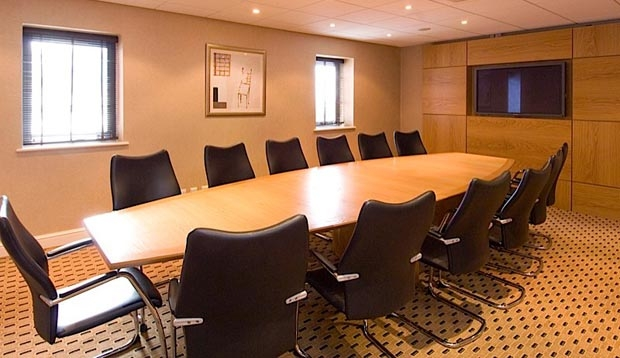 Inside meeting room at Premier Inn Manchester Old Trafford hotel