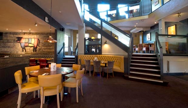 Inside restaurant at Premier Inn Manchester (Heaton Park) hotel