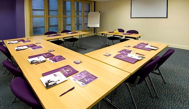 Meeting room at Premier Inn Manchester Central hotel