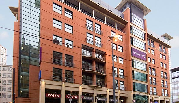 Exterior at Premier Inn Manchester Central hotel