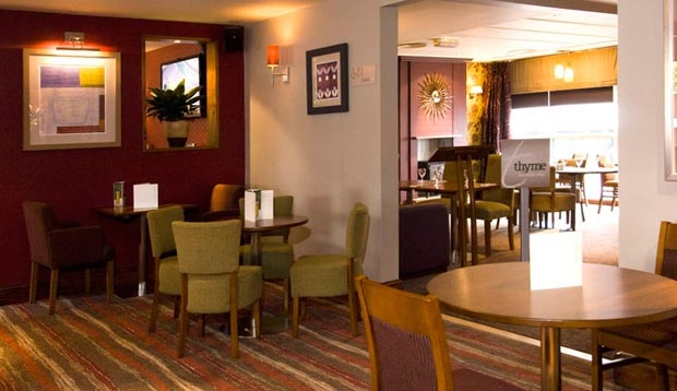 Restaurant area at Premier Inn Manchester City Centre (Deansgate Locks) hotel