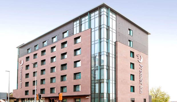 Exterior at Premier Inn Manchester Salford Central hotel