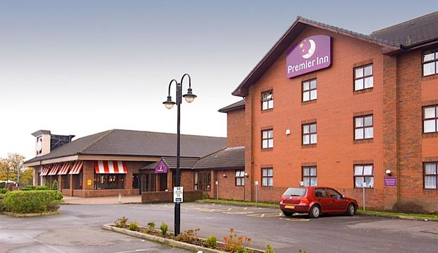 Exterior at Manchester (Prestwich) hotel showing car park