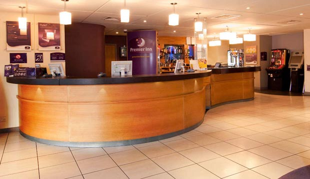 Reception at Premier Inn Manchester Trafford Centre West hotel