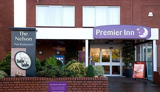 Exterior of Premier Inn Norwich Nelson City Centre hotel