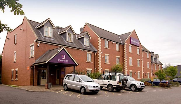 Exterior of Premier Inn Nottingham North (Daybrook) hotel with car park view