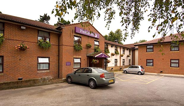 Outside Premier Inn Nottingham South with car park view