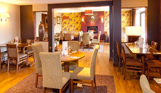 Restaurant area at Premier Inn Rochester