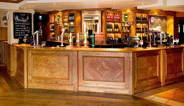 Bar area at London Romford Central