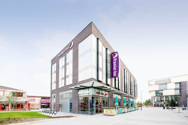 Exterior of Premier Inn Telford International Centre