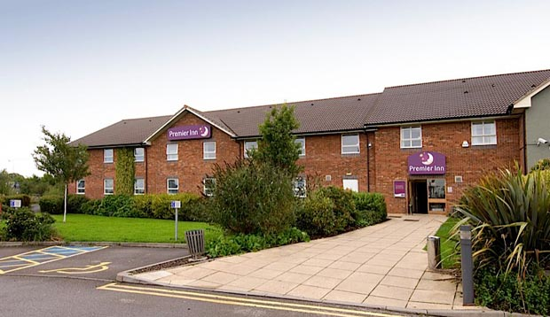 Exterior at Premier Inn Uttoxeter showing reception