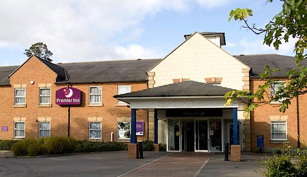 Exterior of Premier Inn York North showing reception